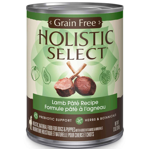 Hollywood Feed - Holistic Select Dog Food - Grain Free Lamb Pate - Canned Dog Food