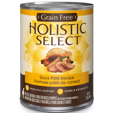 Hollywood Feed - Holistic Select Dog Food - Grain Free Duck Pate - Canned Dog Food
