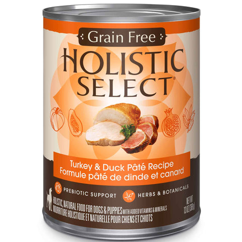 Hollywood Feed - Holistic Select Dog Food - Grain Free Turkey & Duck Pate - Canned Dog Food