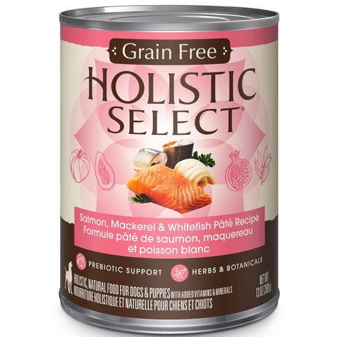 Hollywood Feed - Holistic Select Dog Food - Grain Free Whitefish, Salmon & Herring Pate - Canned Dog Food