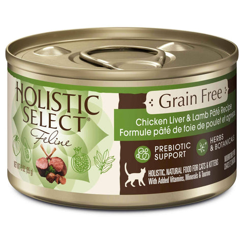Hollywood Feed - Holistic Select Cat Food - Grain Free Chicken Liver & Lamb Pate - Canned Cat Food - 1