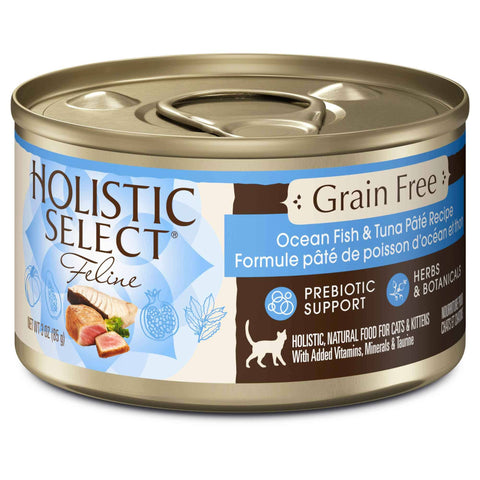 Hollywood Feed - Holistic Select Cat Food - Grain Free Ocean Fish & Tuna Pate - Canned Cat Food - 1