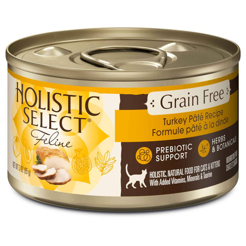 Hollywood Feed - Holistic Select Cat Food - Grain Free Turkey Pate - Canned Cat Food - 1