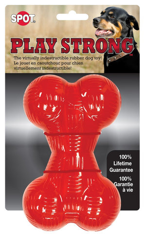 Play Strong Rubber Bone - 6.5""