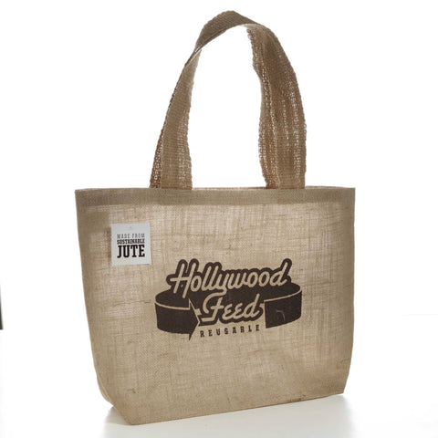 Hollywood Feed - Hollywood Feed Jute Tote Bag - Tote Bag