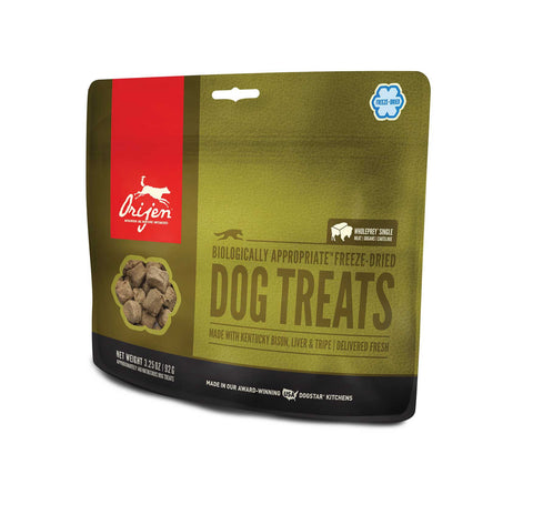ORIJEN Dog Treats - Freeze Dried Kentucky Bison