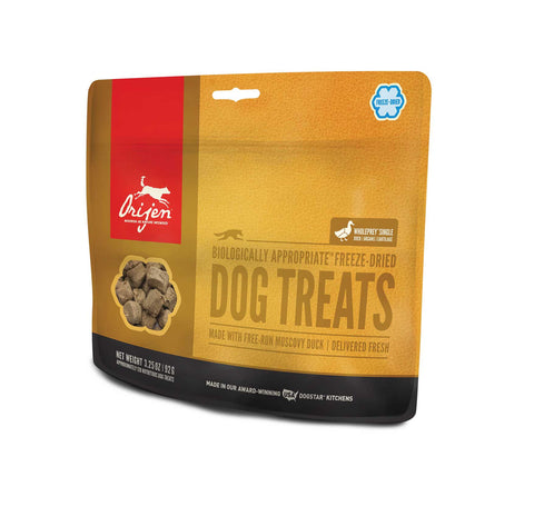ORIJEN Dog Treats - Freeze Dried Free Run Duck