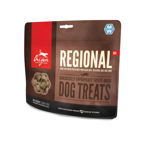 ORIJEN Dog Treats - Freeze Dried Regional Red
