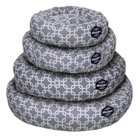 Hollywood Feed - Mississippi Made Donut Bed Grey Lattice - Donut Bed - 1