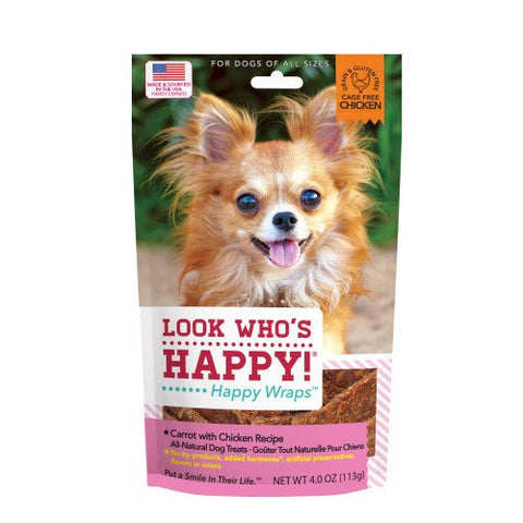 Look Who's Happy - Carrot & Chicken Wraps - 4oz