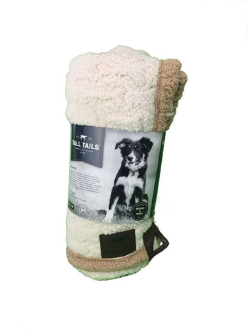 Tall Tails Micro Sherpa Throw - Embossed Bone
