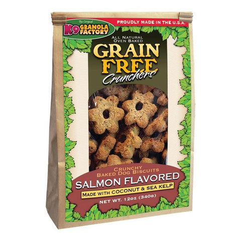 K9 Granola Factory - Grain Free Crunchers Atlantic Salmon with Coconut & Sea Kelp 12oz