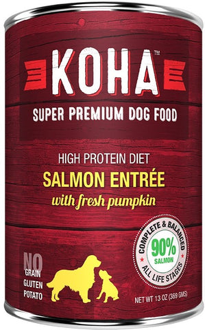 Koha Dog Food - King Salmon Entrée with Fresh Pumpkin - 13oz 12/cs
