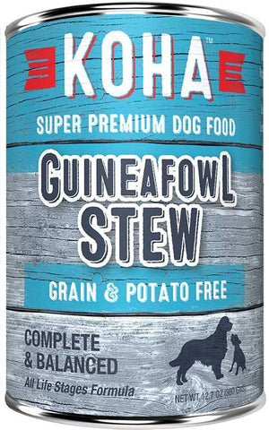 Koha Dog Food - Guineafowl Stew - 12.7oz 12/cs