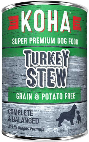 Koha Dog Food - Turkey Stew - 12.7oz 12/cs