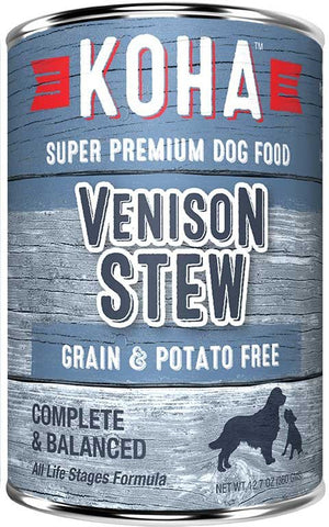 Koha Dog Food - Venison Stew - 12.7oz - 12/cs