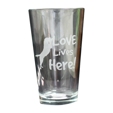 Pint Glass - Love Lives Here