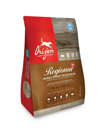 ORIJEN Dog Food - Freeze Dried Regional Red - 16oz