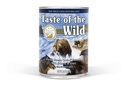 Taste of the Wild Dog Food - Pacific Stream Canine Formula with Salmon in Gravy - 12.5oz - 12/cs