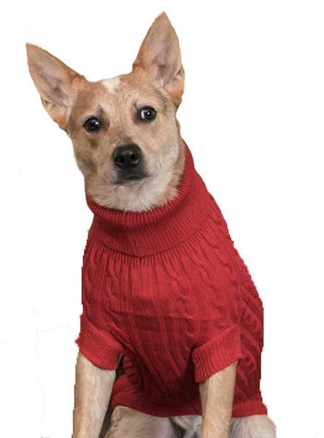 Huggle Hound Red Cableknit Sweater