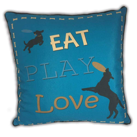 Arlee Pillow - Eat Play Love - 18""