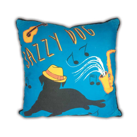 Arlee Pillow - Jazzy Dog - 18""