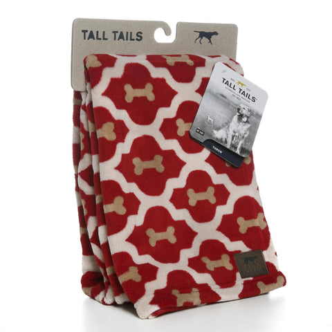 "Hollywood Feed - Tall Tails Blanket - Red Bone - Large (40"" x 60"") - Blanket"