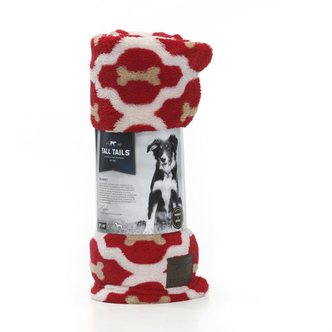 "Hollywood Feed - Tall Tails Blanket - Red Bone - Medium (30"" x 40"") - Blanket"
