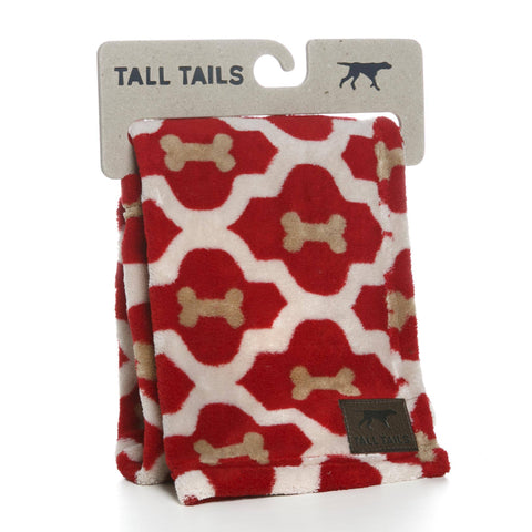 "Hollywood Feed - Tall Tails Blanket - Red Bone - Small (20"" x 30"") - Blanket"