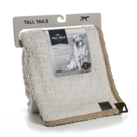 Hollywood Feed - Tall Tails Embossed Bone Micro Sherpa Throw - Blanket