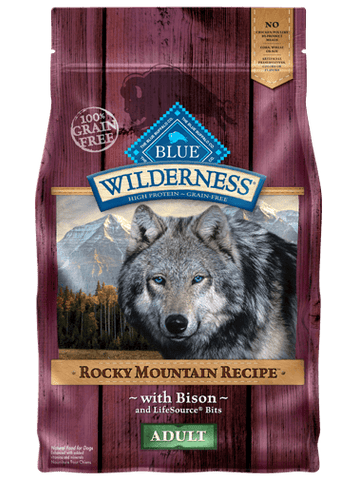 Blue Wilderness Adult - Rocky Mountain Recipes - Bison Grain Free - 22#