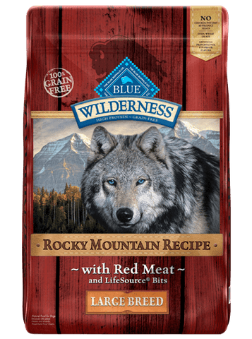 Blue Wilderness Adult - Rocky Mountain Recipes - Red Meat Large Breed Grain Free - 22#