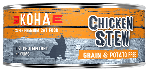 KOHA Canned Cat Food - Chicken Stew - 5.5oz 24/cs