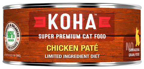 Koha Cat Food - New Zealand Chicken Entrée 6oz -24/cs