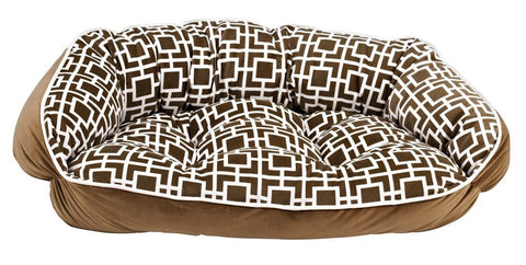 Hollywood Feed - *Bowsers Crescent Bed - Courtyard Taupe - Crescent Bed - 1