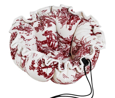 Hollywood Feed - *Bowsers Buttercup Bed - Raspberry Toile - Cuddler
