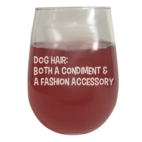 Wine Glass - Dog Hair