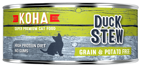 KOHA Canned Cat Food - Duck Stew - 5.5oz 24/cs