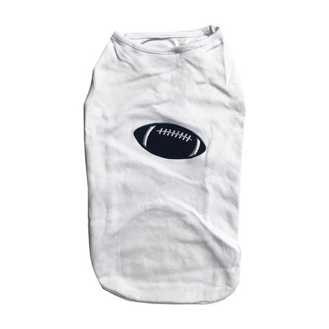 Fabdog - White Football Shirt for Dogs