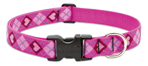 "Hollywood Feed - Lupine Adjustable Dog Collar (Large Dog) - Puppy Love - 1"" - Flat Collar (Adjustable)"