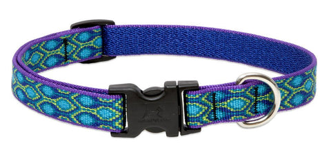 "Hollywood Feed - Lupine Adjustable Dog Collar (Medium Dog) - Rain Song - 3/4"" - Flat Collar (Adjustable)"