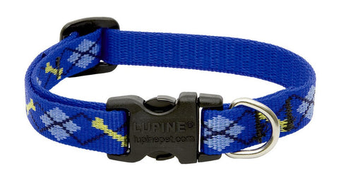 "Hollywood Feed - Lupine Adjustable Dog Collar (Small Dog) - Dapper Dog - 1/2"" - Flat Collar (Adjustable)"