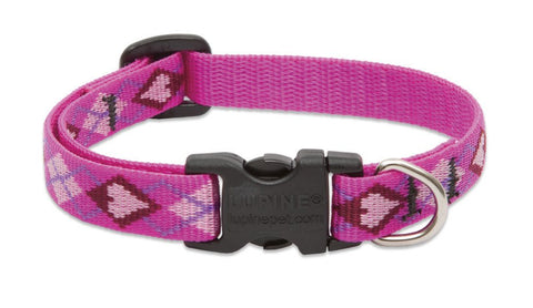 "Hollywood Feed - Lupine Adjustable Dog Collar (Small Dog) - Puppy Love - 1/2"" - Flat Collar (Adjustable)"