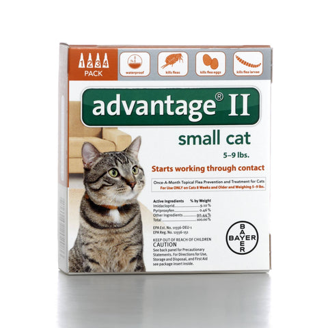 Hollywood Feed - Advantage II - For cats 5 to 9 lbs - Flea and Tick