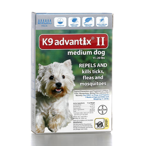Hollywood Feed - K9 Advantix II - 6 pack - For dogs 11 to 20 lbs - Flea and Tick