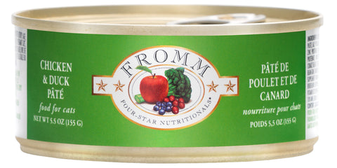 Fromm Cat Food - Chicken & Duck Pate 5oz 12/cs
