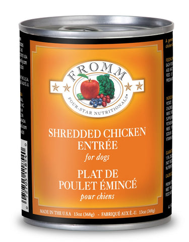 Hollywood Feed - Fromm Dog Food - Four-Star Shredded Chicken Entrée - 13oz - Canned Dog Food