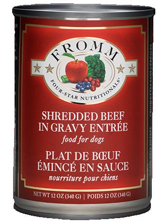 Fromm Dog Food - Four-Star Shredded Beef Entrée - 12oz 12/cs