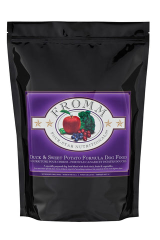 Hollywood Feed - Fromm Dog Food - Four-Star Duck & Sweet Potato - Dry Dog Food - 1