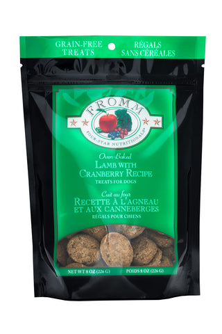 Fromm Dog treats - Lamb with Cranberry 8oz